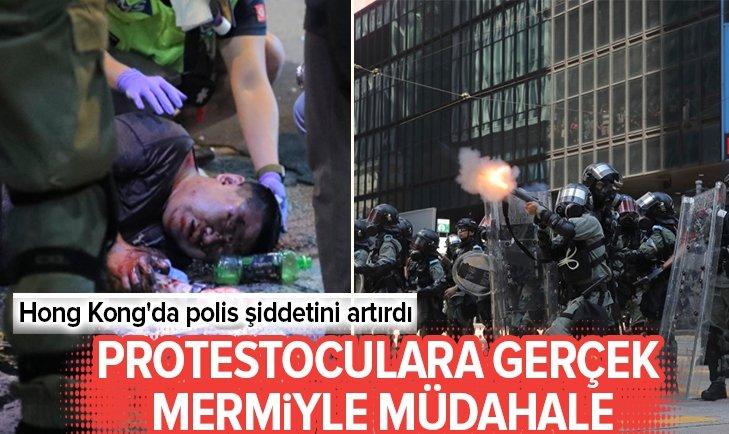 HONG KONG'DA POLİS ŞİDDETİNİ ARTIRDI!