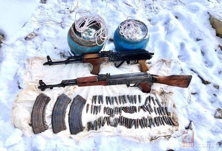 Terör örgütü PKK'ya Eren Operasyonları darbesi! Örgütün kış üslenmesi yerle bir edildi