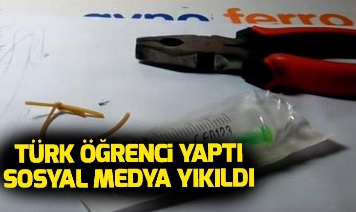 TÜRK ÖĞRENCİ ŞIRINGA VE LASTİKLE YAPTI! SOSYAL MEDYA YIKILDI...