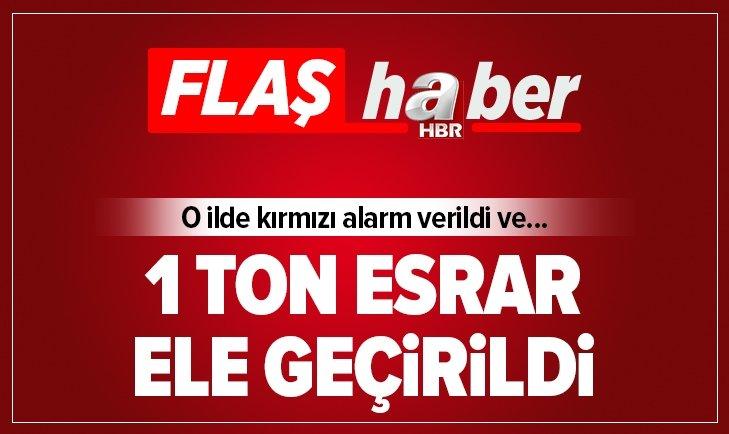 POLİS ALARMA GEÇTİ VE 1 TON ESRAR ELE GEÇİRİLDİ!