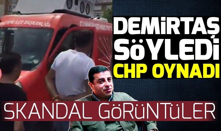 CHP aracından Selahattin Demirtaş'ın şarkısı çalındı