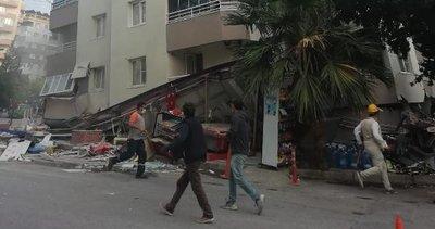 Çöken binanın altındaki markette 20 kişi mahsur kaldı iddiası