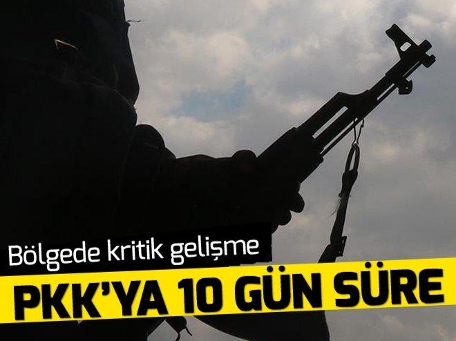 MUSUL'DA PKK'YA 10 GÜN SÜRE