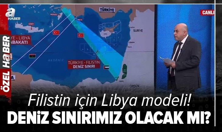 Türkiye'nin Filistin ile deniz sınırı olacak mı? Hüseyin Çelik tarihi anlaşmayı A Haber'de değerlendirildi
