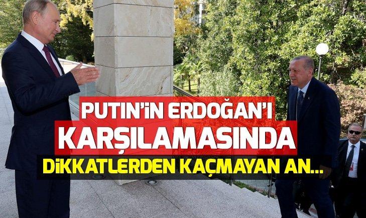 PUTİN'İN ERDOĞAN'I KARŞILAMASINDA DİKKATLERDEN KAÇMAYAN AN...
