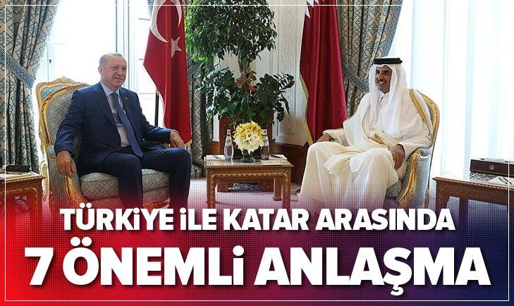 Türkiye ile Katar arasında 7 önemli anlaşma!