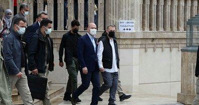 İçişleri Bakanı Süleyman Soylu Taksim Camii'ni ziyaret etti