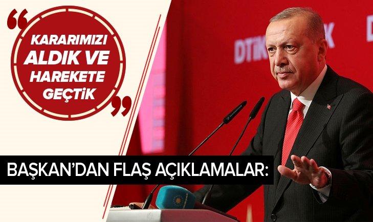 ERDOĞAN: GÖREVİMİZ PKK VE DEAŞ BAĞLANTILI GRUPLARLA...
