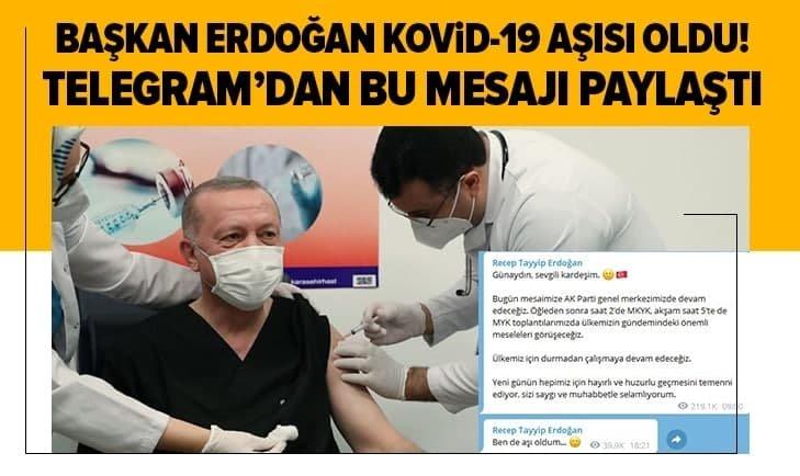 Başkan Erdoğan Kovid-19 aşısı oldu