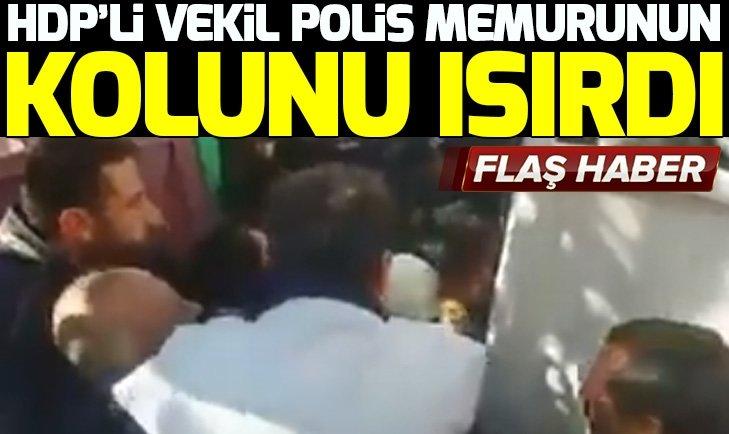 HDP'Lİ VEKİL SALİHA AYDENİZ POLİS MEMURUNUN KOLUNU ISIRDI