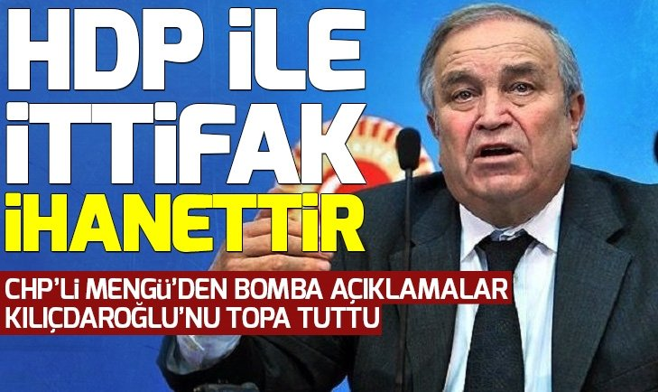 Şahin Mengü: HDP ile ittifak ihanettir