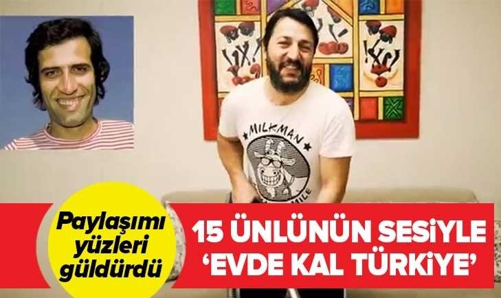 OYUNCU İSMAİL BAKİ TUNCER'DEN ÜNLÜLERİN SESİYLE 'EVDE KAL' ÇAĞRISI