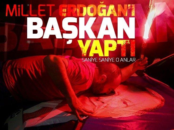 Erdoğan'ın seçim zaferi tüm yurtta coşkuyla kutlandı