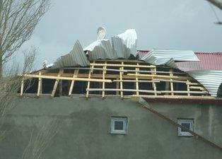Ardahan'da şiddetli fırtına: Ağaçlar ve direkler devrildi çatılar uçtu