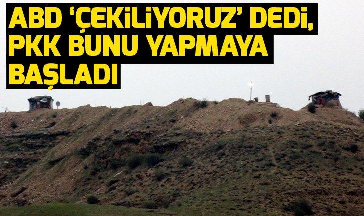 ABD askerleri çekiliyoruz dedi, PKK bakın ne yapmaya başladı