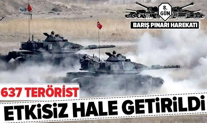 BARIŞ PINARI HAREKATI'NDA 637 TERÖRİST ÖLDÜRÜLDÜ