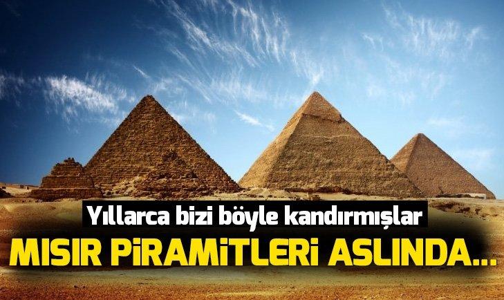 Yıllarca bizi böyle kandırmışlar! Mısır Piramitleri aslında...