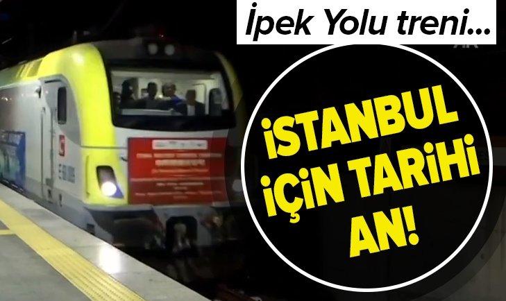 İstanbul için tarihi an! İpek Yolu treni Marmaray'dan böyle geçti