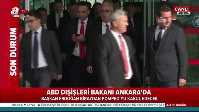 Başkan Erdoğan ABD Dışişleri Bakanı Pompeo'yu kabul etti