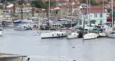 İzmir'de deprem sonrası gelgit oluştu! Tekneler böyle sürüklendi...