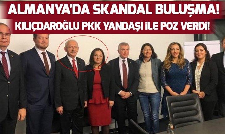 Kemal Kılıçdaroğlu Almanya'da PKK yandaşı vekille poz verdi