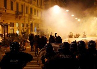 İtalya'da sokağa çıkma yasağı olaylı başladı!