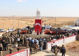 Şırnak'ta şehit edilen 5 güvenlik görevlisi için anıt