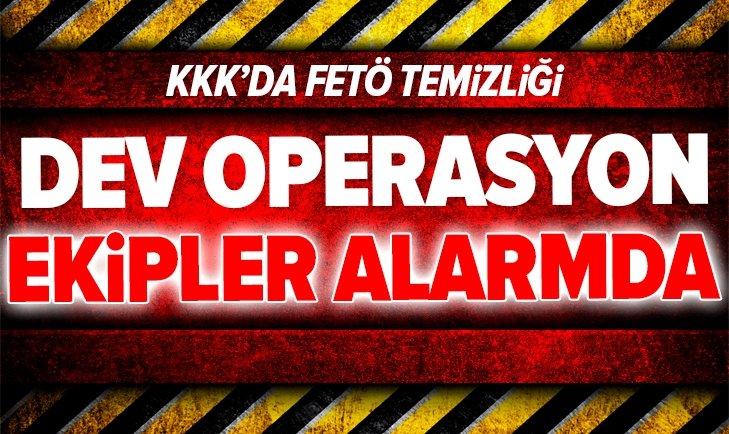 TSK'da dev FETÖ operasyonu!