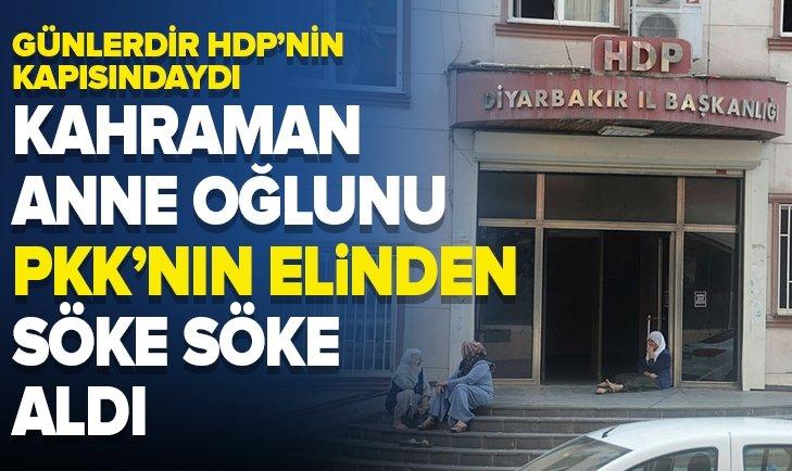 KAHRAMAN ANNE OĞLUNU PKK'NIN ELİNDEN SÖKE SÖKE ALDI