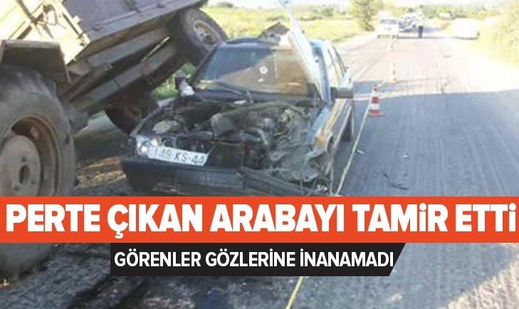 KAZA YAPAN MERCEDES'İ ÖYLE BİR HALE GETİRDİ Kİ...