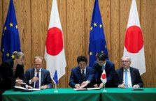 AB ve Japonya arasınd serbest ticaret anlaşması