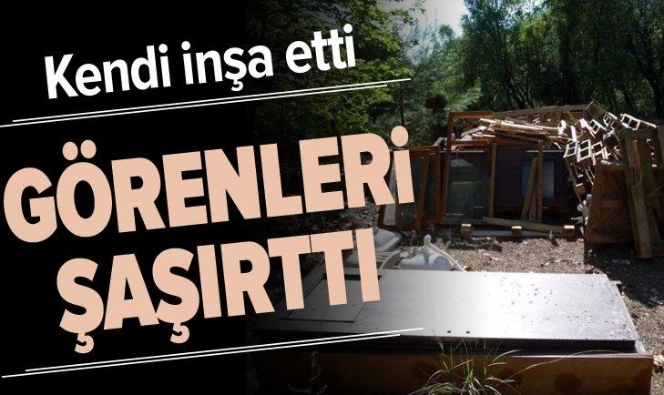 KENDİ İNŞA ETTİ GÖRENLERİ ŞAŞIRTTI...