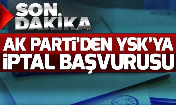 AK Partiden YSKya Maltepe başvurusu