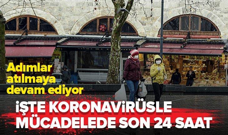 İŞTE KORONAVİRÜSLE MÜCADELEDE SON 24 SAAT!