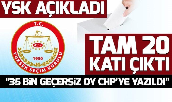 YSK: İstanbul'da şüpheli oy sayısı 300 binden fazla! 35 bin geçersiz oy CHP'ye yazıldı