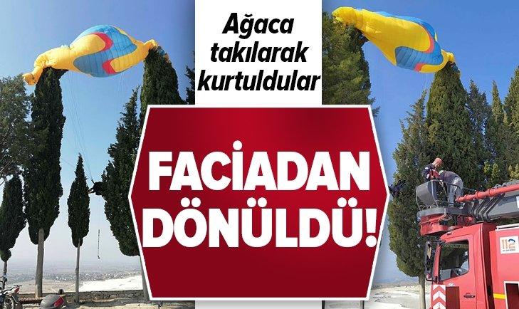 DENİZLİ  PAMUKKALE'DE FACİADAN DÖNÜLDÜ!