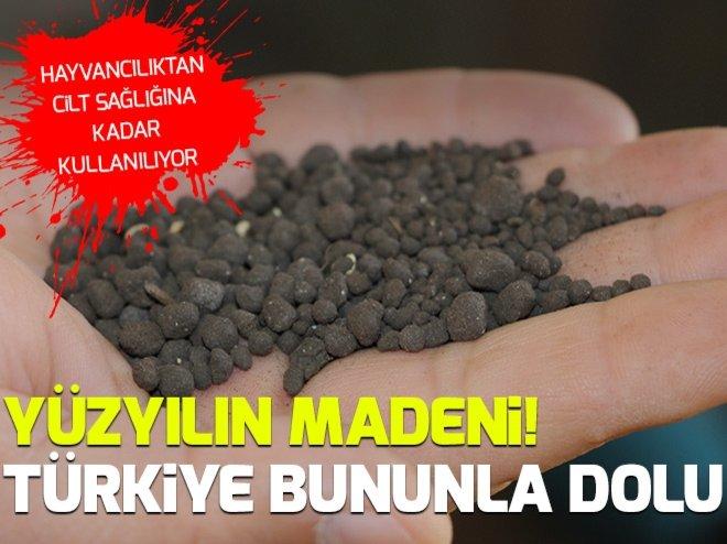 'Yüzyılın madeni'nde Türkiye dünyada ikinci sırada