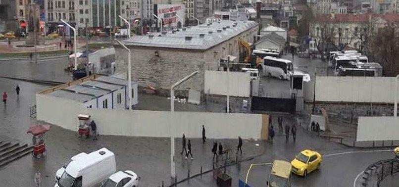 TAKSİM'DE ÇALIŞMALAR BAŞLADI