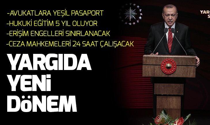 Başkan Erdoğan 'Yargı Reformu' paketini açıkladı
