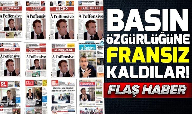 Biri basın özgürlüğü mü dedi?
