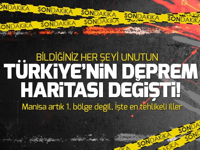 Türkiye'de deprem riski olan iller değişti! İşte Deprem risk haritası