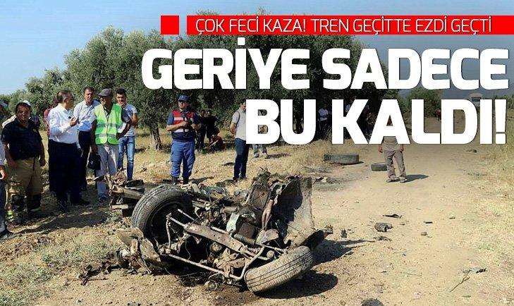 İZMİR'DE HEMZEMİN GEÇİTTE FECİ KAZA!