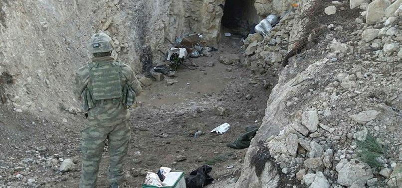 AFRİN'DEKİ PYD/PKK SIĞINAKLARINDA KIZILHAÇ YARDIMI BULUNDU