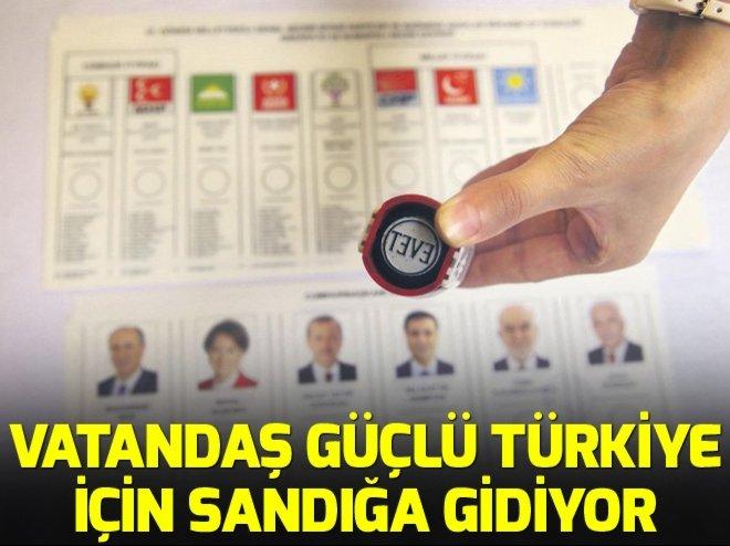 Türkiye bugün sandığa gidiyor