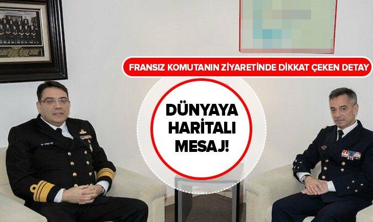 FRANSIZ KOMUTANIN ZİYARETİNDE DİKKAT ÇEKEN DETAY!