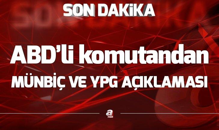 ABD'DEN ÖNEMLİ MÜNBİÇ VE YPG AÇIKLAMASI!