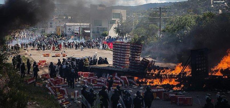 MEKSİKA'DA EĞİTİM REFORMU PROTESTOSU