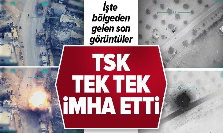 TSK REJİM HEDEFLERİNİ KARADAN VE HAVADAN VURDU!