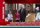 Başkan Erdoğan milli sporcuları kabul etti | Video
