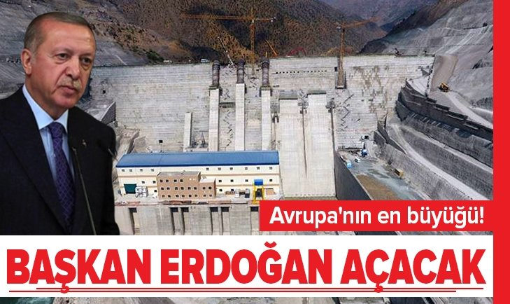 Avrupa'nın en büyüğü! Başkan Erdoğan açacak
